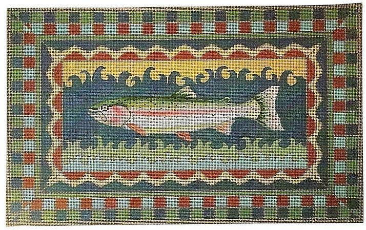 Rainbow Trout Needlepoint Canvas