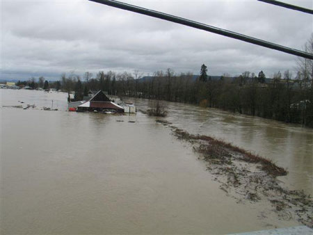 Snoqualmie river flood
