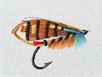 Salmon Fly Needlepoit