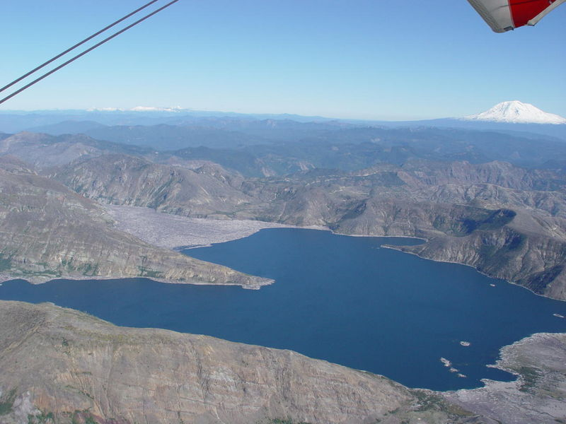 28. Mt. Saint Helens Flying including Ranier, Hood, and Adams 059