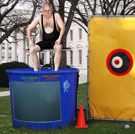 Cheney-dunk-tank