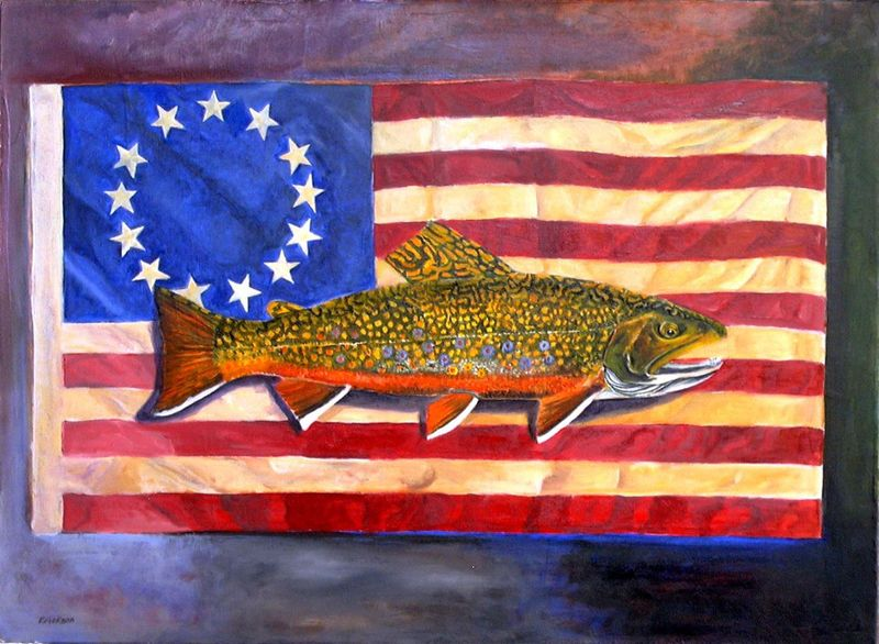 Old_glory_brook_trout__oil_on_canva