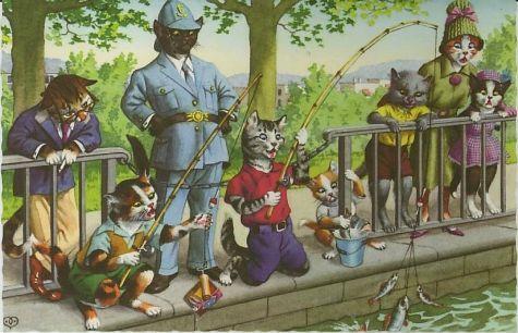 Alfredmainzerdressedcatsfishingpoac